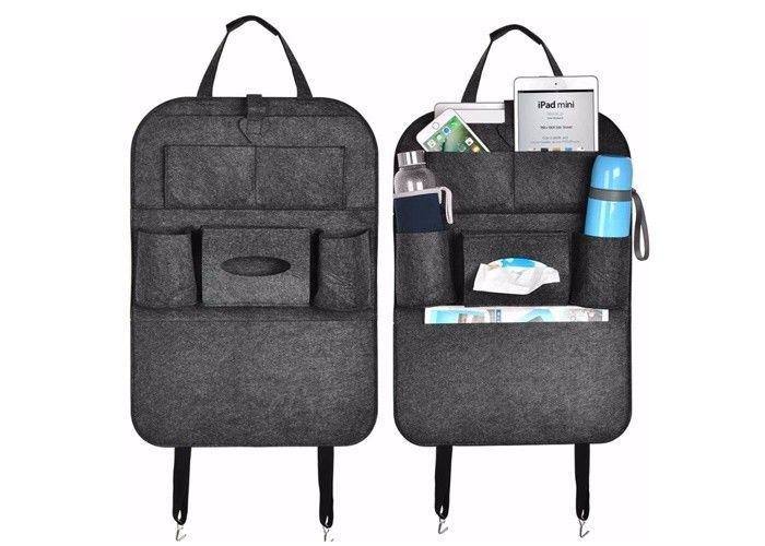 Lightweight Multi Pocket Organizer For Car Seat Back Universal Fit Most Cars